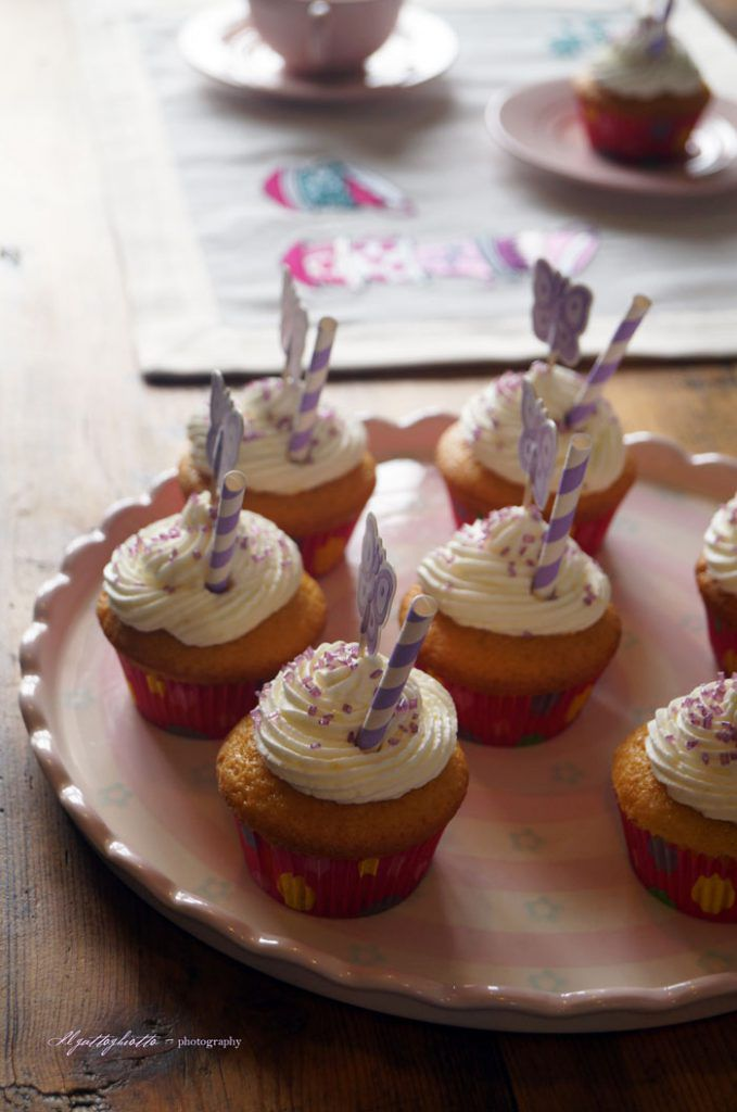 cupcakes alla vaniglia vassoio