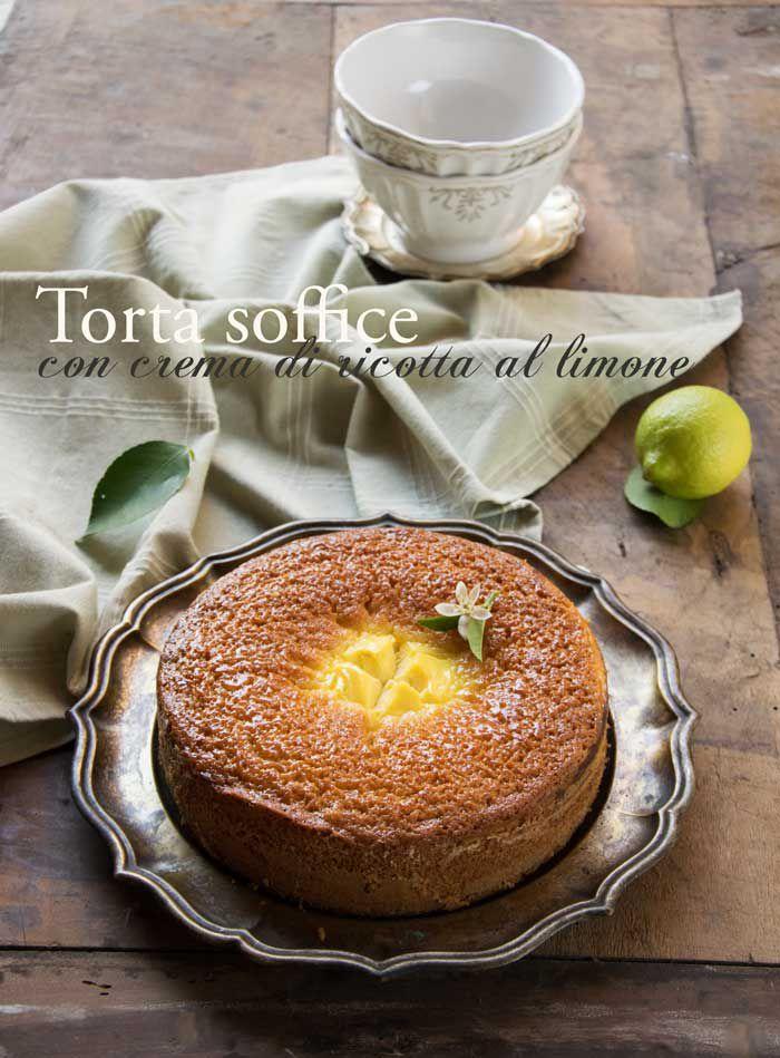 torta soffice con crema di ricotta