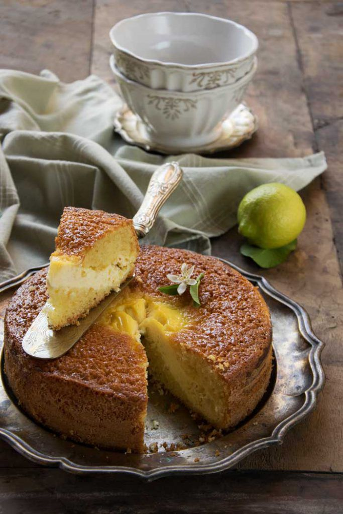 torta soffice con crema di ricotta al limone