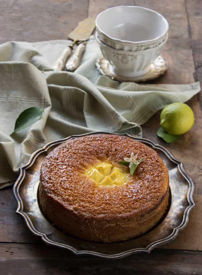 torta soffice con crema di ricotta al limoncello