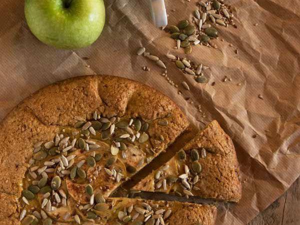 Galette di farina di farro con crema pasticcera alla mela