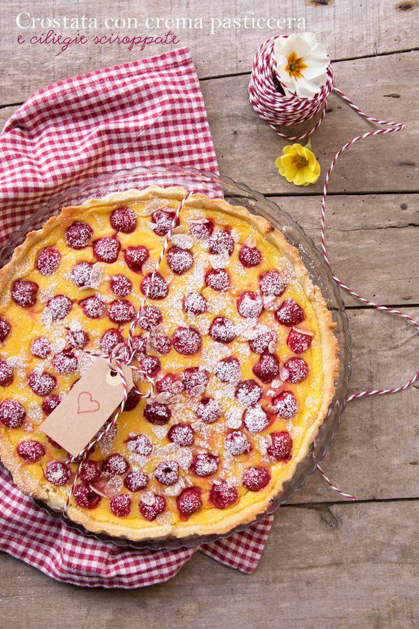 Crostata-con-crema-e-ciliegie-sciroppate