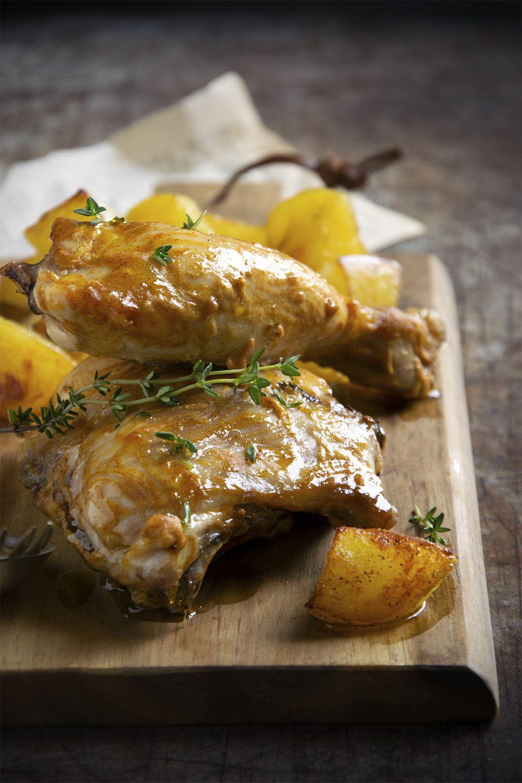 Pollo alla senape e timo